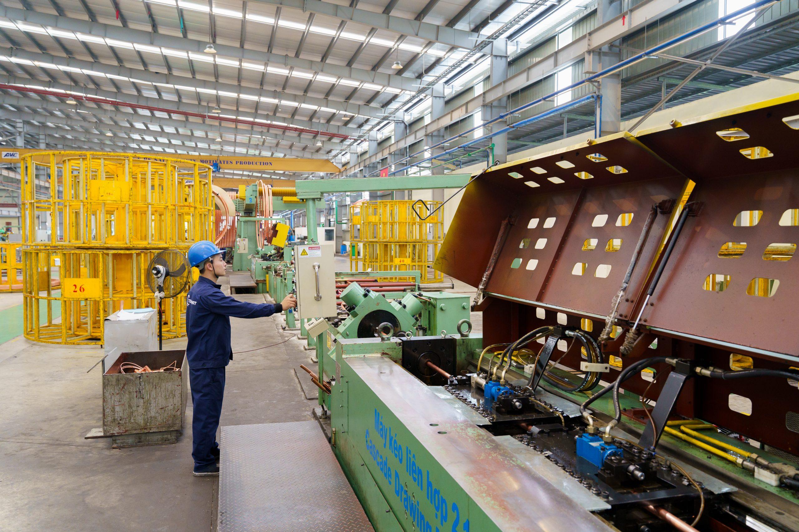 Hình ảnh quy trình sản xuất tại nhà máy sản xuất ống đồng Toàn Phát