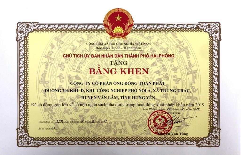 Bang khen TPHP tang TP ve hdxk